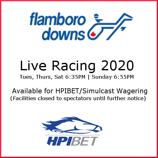 Live Racing 4 days a week. All facilities closed til further notice.